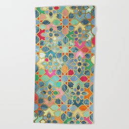 Gilt & Glory - Colorful Moroccan Mosaic Beach Towel
