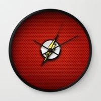 flash Wall Clocks featuring FLASH by neutrone