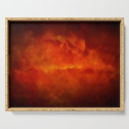 Firestorm In Heaven - Gothic Glam Clouds Serving Tray