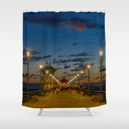 Looking Down the Pier Shower Curtain