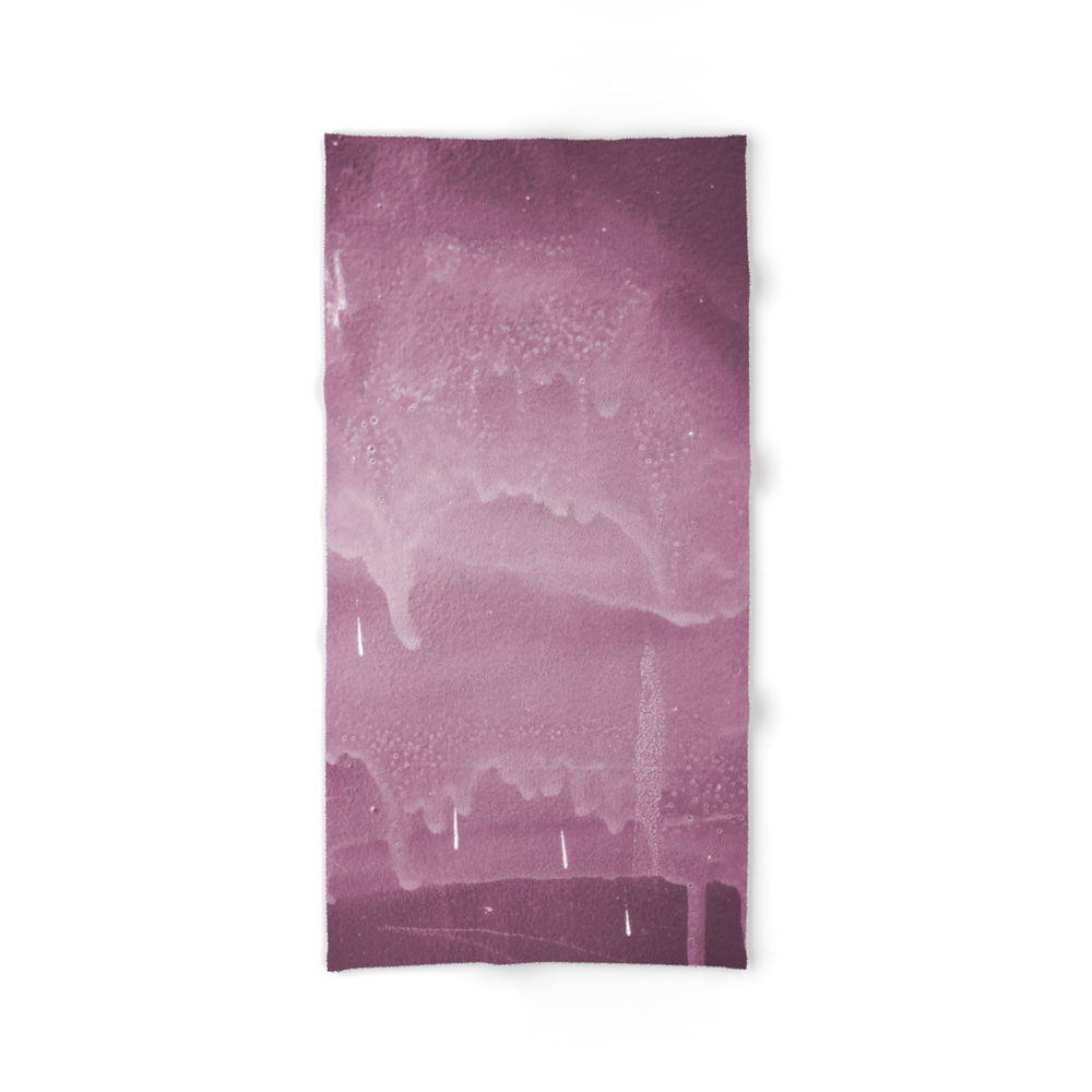 Pink Graffiti Stain On Gray Background Ready For Picture, Clothes, Furniture, Iphone Cases Bath Towel by lauramunest