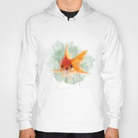 goldfish Hoodies featuring Goldfish by Sarah Sutherland