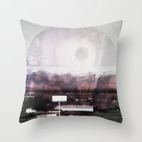 horror Throw Pillows featuring HORROR by Nicole Mawby