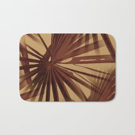 Burgundy and Coffee Tropical Beach Palm Vector Bath Mat