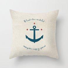Sailor before Captain Throw Pillow