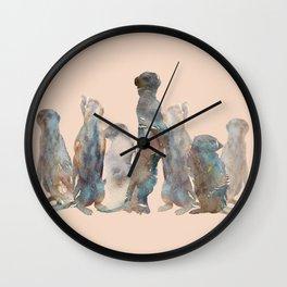 Meerkats Meeting Wall Clock
