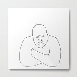 Grumpy Gorilla Metal Print