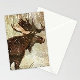 Wild Game Winter Moose Stationery Cards