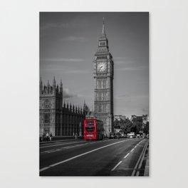 Big Ben and London Bus Canvas Print