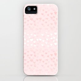 Hearts in light pink iPhone Case