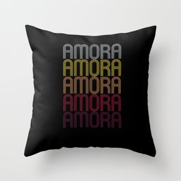 Amora Name Gift Personalized First Name Throw Pillow
