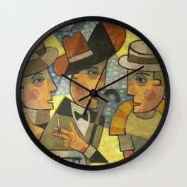 Haines, Stephen Dedalus and Buck Mulligan Wall Clock