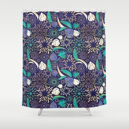 Tropical fireworks Shower Curtain
