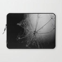Black and White Cobweb Laptop Sleeve