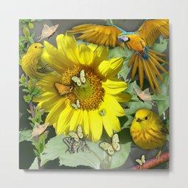 Sunflower feast Metal Print