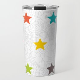 Colored Stars Travel Mug