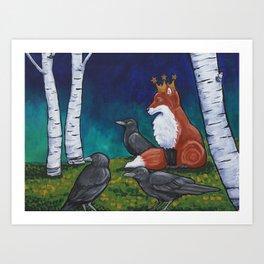 The Fox King Art Print