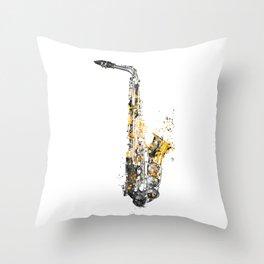 Saxophone music art #saxophone Throw Pillow