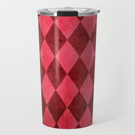 Ruby Harlequin Grunge Travel Mug