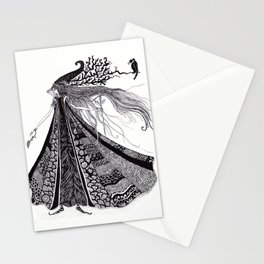 Wood Fairy Warrior Stationery Cards