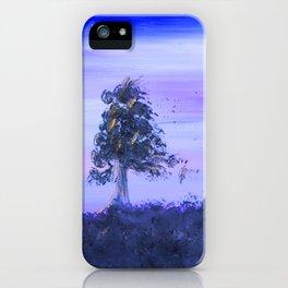 """Tree Line #7"" Original Painting Enhanced iPhone Case"
