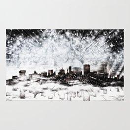 Feuerwerk über der Stadt Rug