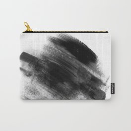Black & White Minimal simple art, Brush Strokes Abstract painting 3 Carry-All Pouch