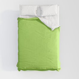 From The Crayon Box – Inch Worm Green - Bright Lime Green Solid Color Comforters