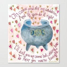 Cauldron of Love Canvas Print