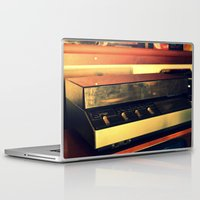 record Laptop & iPad Skins featuring record player by gzm_guvenc