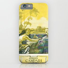 Vintage 1924 Campari Advertisement by Marcello Dudovich iPhone Case