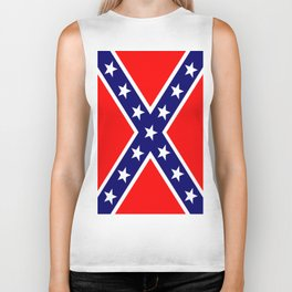 Confederate Third national flag (The Blood Stained Banner) Biker Tank