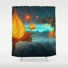 Magical lights Shower Curtain