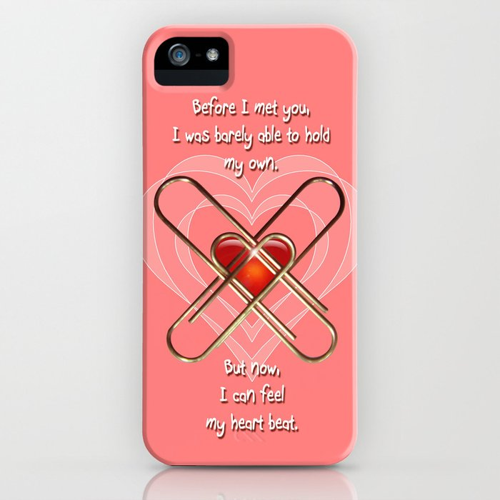 Clip Heart Valentine iPhone Case