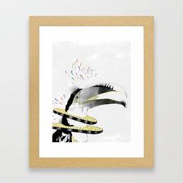 Funky Parrot Framed Art Print