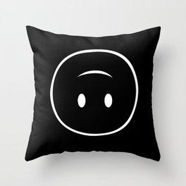 Upside-down smiley Throw Pillow