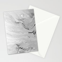 Gray & White Marble Pattern Stationery Cards