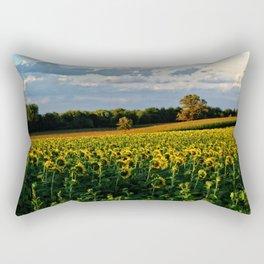 Summer sunflower field Rectangular Pillow