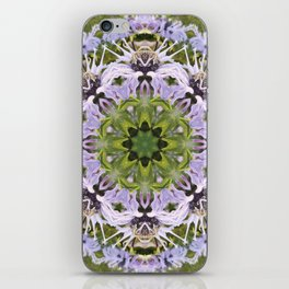 Lacy Lavender Wild Bergamot Kaleidoscope iPhone Skin
