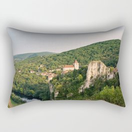 Saint Cirq Lapopie Rectangular Pillow