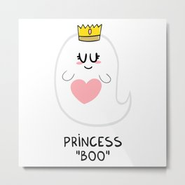 "Princess ""Boo"" Metal Print"