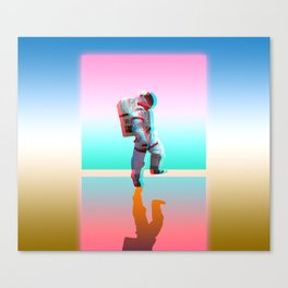 Retro Space Man Canvas Print
