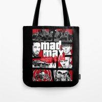 gta Tote Bags featuring Mashup GTA Mad Max Fury Road by Akyanyme