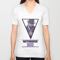 notorious big V-neck T-shirts featuring *Notorious BiG* by Gold Blood