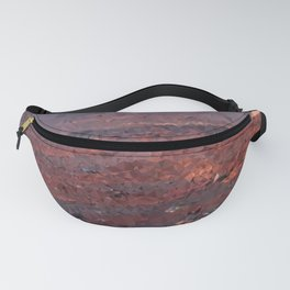 Surface of Mars Low Poly Geometric Triangles Fanny Pack
