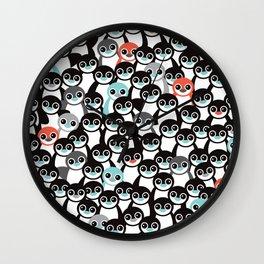 Quirky Penguin winter wonderland arctic animals Wall Clock