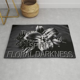 The SPIRIT of FLORAL DARKNESS Rug