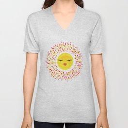 Pretty Sun Painting Unisex V-Neck