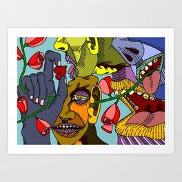 Chatter Art Print