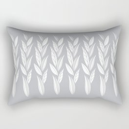 Eternity in Silver Leaf Rectangular Pillow
